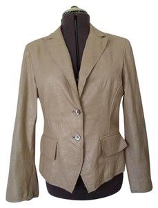 Anne Klein Tan leather Blazer