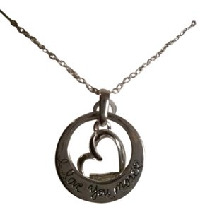 Footnotes Sterling silver necklace - Love you more