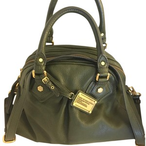 Marc Jacobs Leather Satchel in Olive