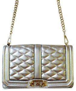 Rebecca Minkoff Gold Quilted Leather Cross Body Bag