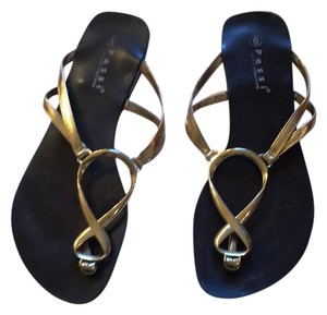 Faith Love Passion Gold and black Sandals