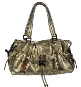 Burberry Shoulder Tote in Metallic Gold