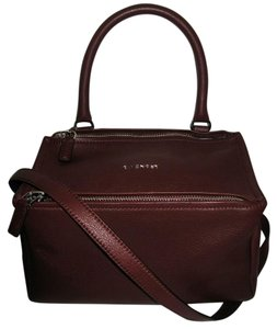 Givenchy Pandora Small Goat Satchel in Burgundy
