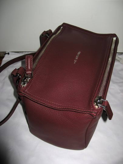 Givenchy Pandora Small Goat Oxblood Satchel in Burgundy