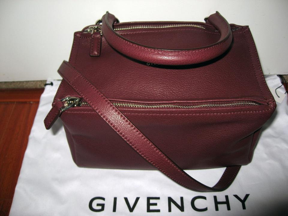 b71d0662df Givenchy Small Pandora Goatskin In Burgundy Leather Satchel - Tradesy