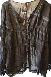 Johnny Was Silk Cover Up Boho Tunic
