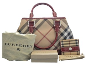 Burberry Wallet Red Clutch