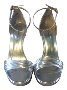 Chinese Laundry Stiletto Open Toe Silver Formal