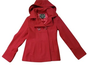 Guess Pea Coat Red Jacket
