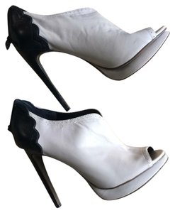 Trouv Black and Off White Boots