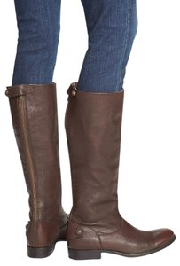 Frye Equestrian Leather Melissa Dark Brown Boots