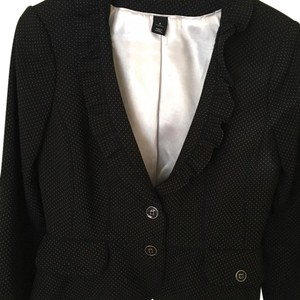 White House | Black Market Black with white dots Blazer