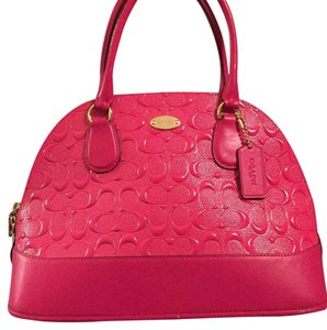 Coach Satchel in Pink Ruby