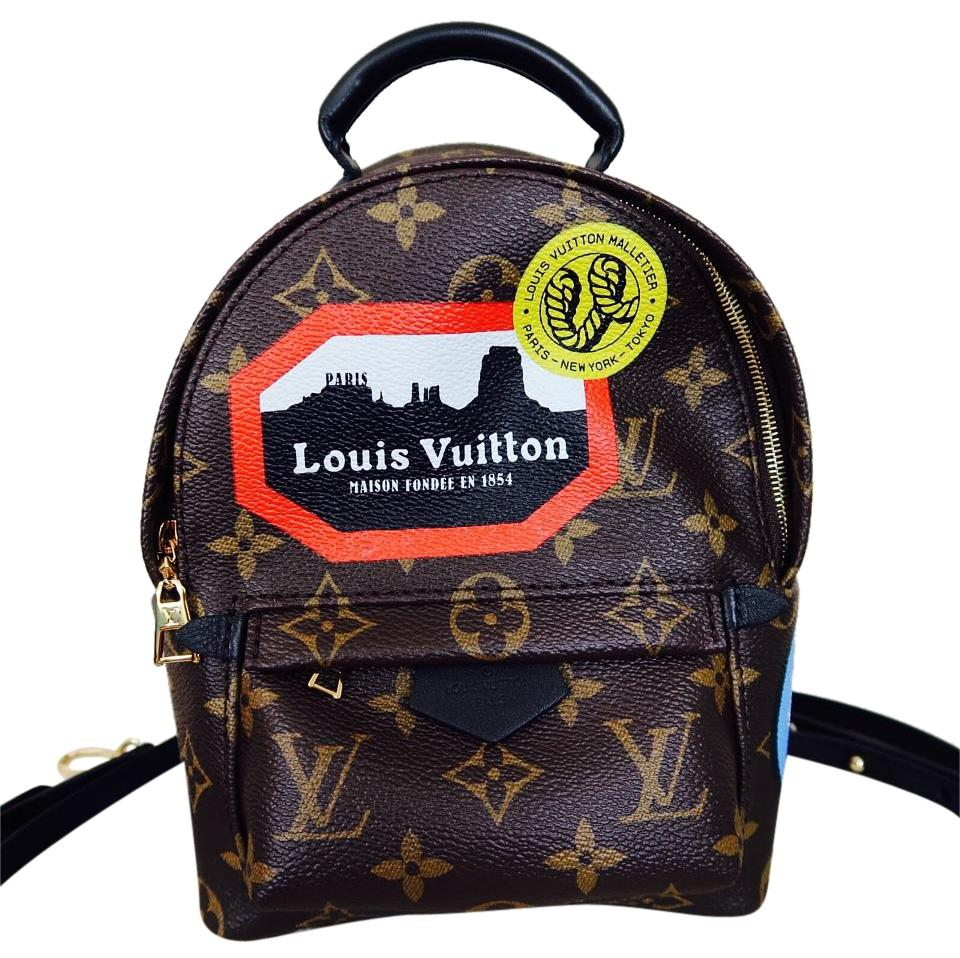 cdba88b1b7f1 Louis Vuitton World Tour Palm Springs Mini Backpack Limited Edition Cross  Body Bag Image 0 ...