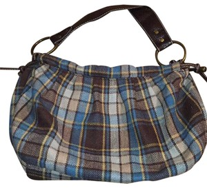 Old Navy Satchel in Blue, Tan, Yellow Plaid
