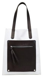 L.A.M.B. Gwenstefani Lamb Leather Tote in White