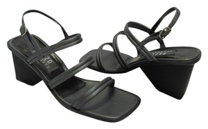 PAZZO New Leather Excellent Condition Dark Gray, Black Sandals