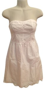 Xhilaration short dress Cream Strapless Cotton on Tradesy