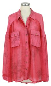 Free People Button Down Shirt pink