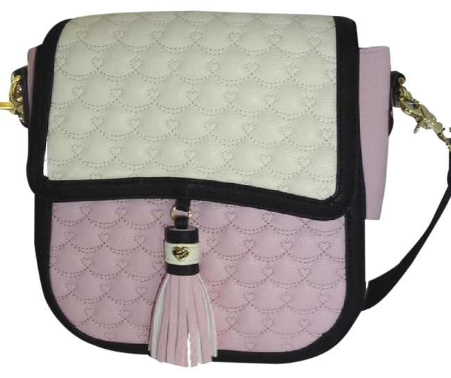 Betsey Johnson Quilted Swag/ Cream/Blush Faux Leather Cross Body Bag Betsey Johnson Quilted Swag/ Cream/Blush Faux Leather Cross Body Bag Image 1