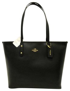 Coach Tote in Black, Gold