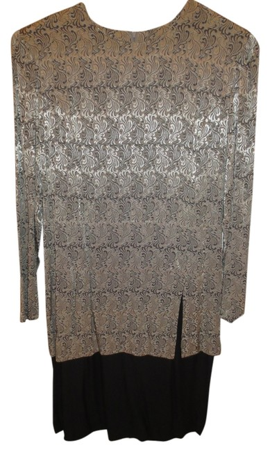 Preload https://item2.tradesy.com/images/beigeblack-fitted-top-layer-one-piece-mid-length-workoffice-dress-size-12-l-1976266-0-0.jpg?width=400&height=650