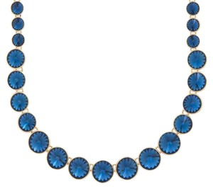 Henri Bendel Henri Bendel On Point Crystal Necklace in Blue and Gold
