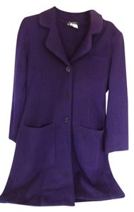 Karen Kane Trench 3/4 Length Merino Wool Button Front Trench Coat
