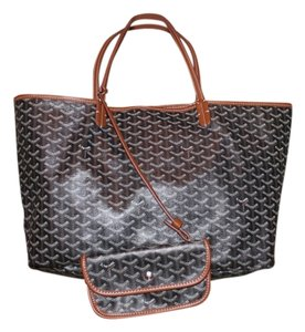 Goyard Neverfull Louis Vuitton Tote in Black and Brown