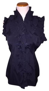 Antilia Femme Button Down Shirt Black