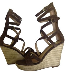 JOE'S Jeans Joes Gladiator Wedge Chocolate Suede Wedges