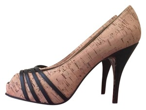 Betsey Johnson Cork with Bkack leather Trim Formal