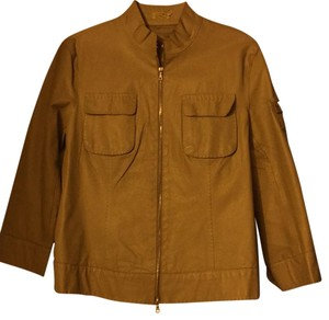 Max Studio Oatmeal Leather Jacket