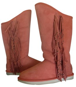 Australia Luxe Collective Lux Leather Shearling Orange Rust Boots
