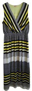 Yellow / Black Maxi Dress by Gibson & Latimer