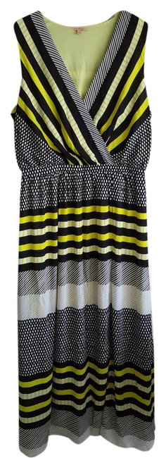 Preload https://item1.tradesy.com/images/gibson-and-latimer-maxi-dress-yellow-black-1976340-0-2.jpg?width=400&height=650