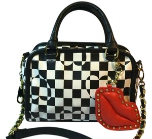 Betsey Johnson Vegan Leather Red Lips Cross Body Bag