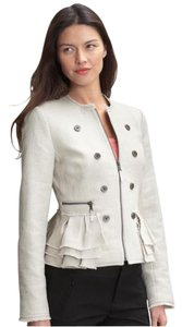Banana Republic Officeattire Coat Textured Cream Jacket