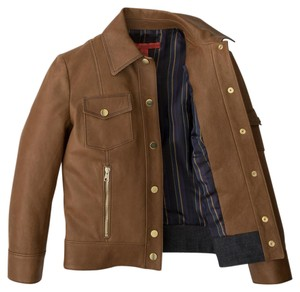 Tommy Hilfiger Leather Fall Casual Brown Leather Jacket