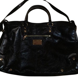 Gianni Bini Satchel in Black, Gold Metals.