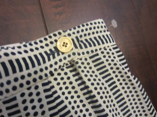 Tory Burch Skirt Cream/Navy Blue