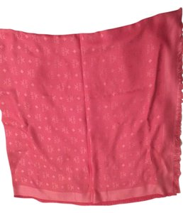 MCM MCM monogram basic jacquard scarf Authentic Pink