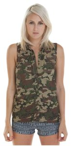 OBEY Button Down Shirt Camo