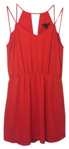Banana Republic short dress Poppy Red Pockets on Tradesy