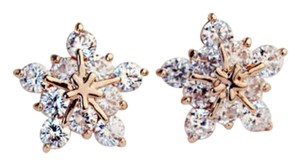 New 14K Gold Filled Cubic Zirconia Star Stud Earrings J2975