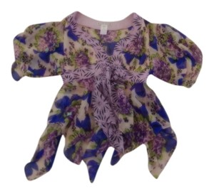Nanette Lepore Size 2 Top multi purple