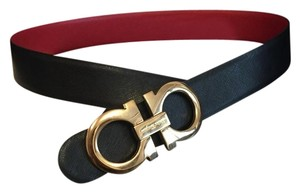 Salvatore Ferragamo Salvatore Ferragamo Black/Red Reversible Big Buckle Belt