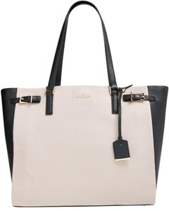 Kate Spade Street Blake Pebble Leather 098689884219 Pxru6038 Tote in Mousse Frosting / Black