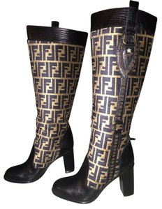 Fendi Rain Brown Boots