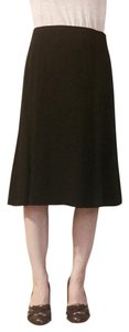 Talbots Crepe A-line Below The Knee Suit Circle Skirt Black